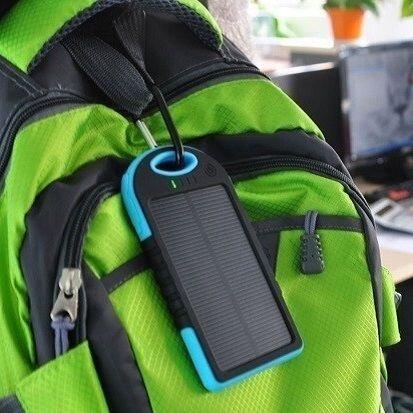 Внешний аккумулятор на солнечных батареях Solar Сharger 5000mAh Чёрный - фото pic_f2479564820ccbf_1920x9000_1.jpg