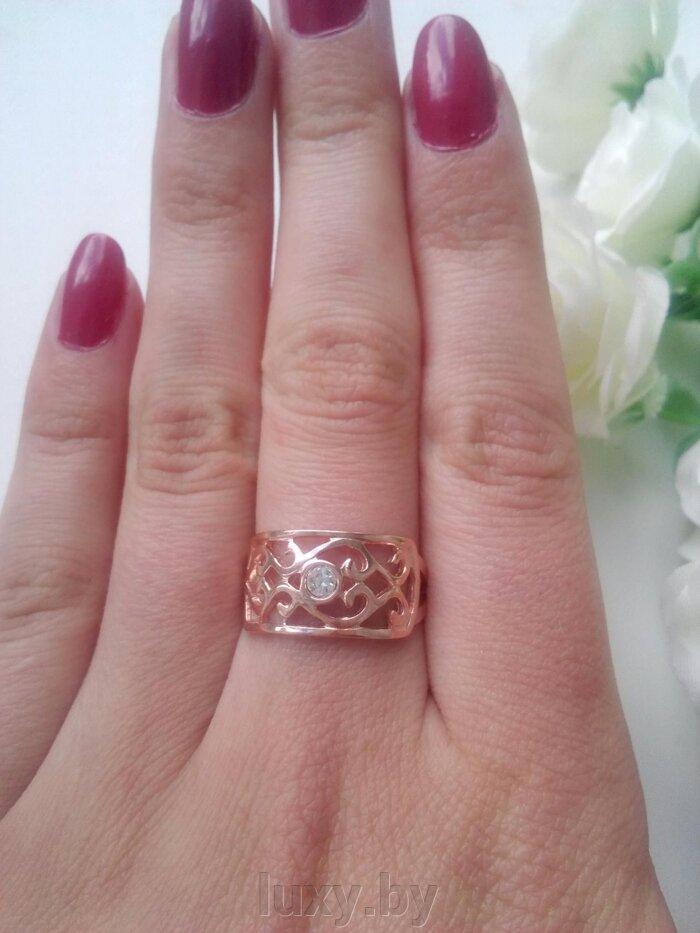 Кольцо 2461188рч - фото кольцо позолота