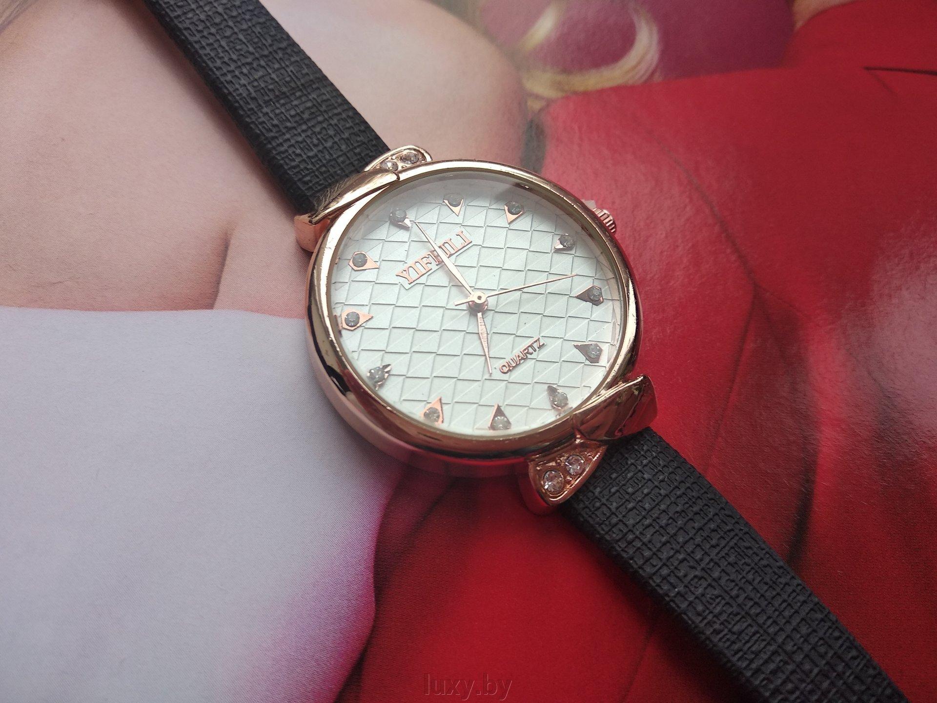 Часы наручные женские YIFEILI, ремешок чёрный, арт. Н-37 - фото pic_de68d232e519d9a_1920x9000_1.jpg
