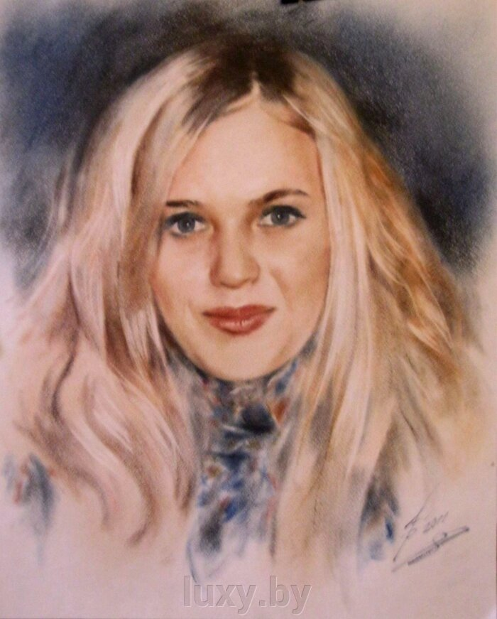 Портреты по фото на заказ цветные - фото 1