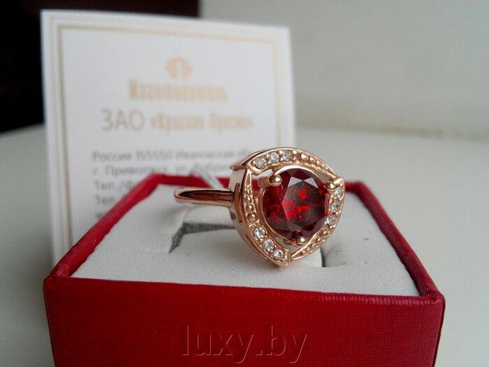 Кольцо Красная пресня, золочение с фианитом арт.2486871Гр - фото pic_bd1c0a784ac5b0f_700x3000_1.jpg