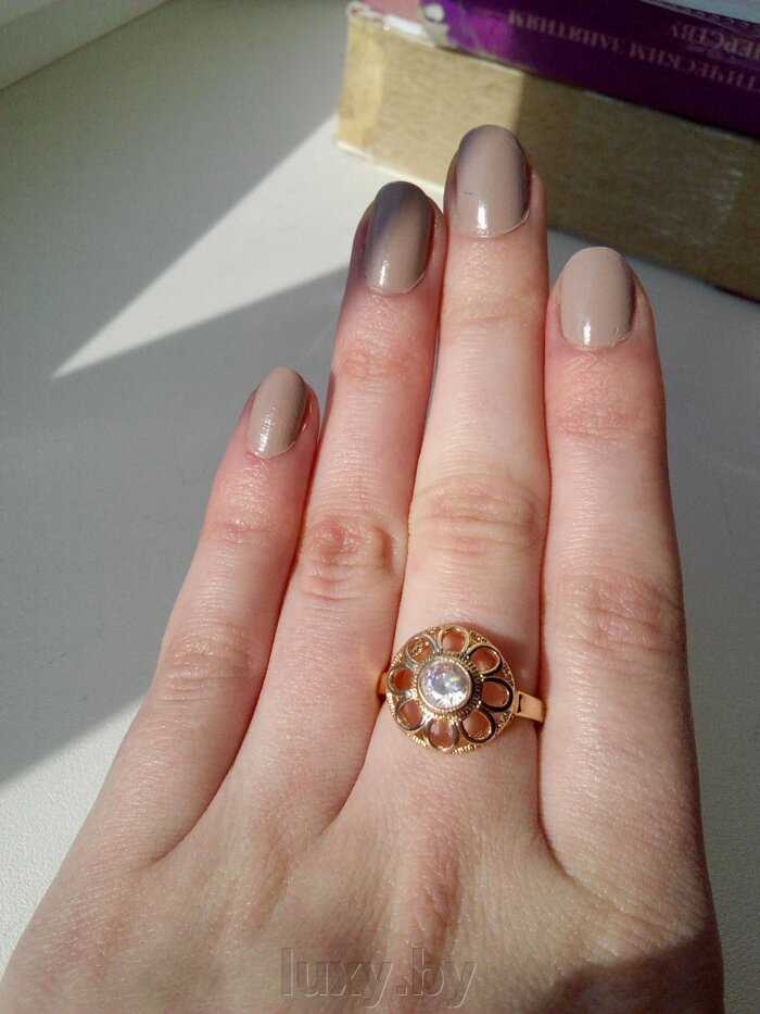 Кольцо С 20 - фото кольцо позолота