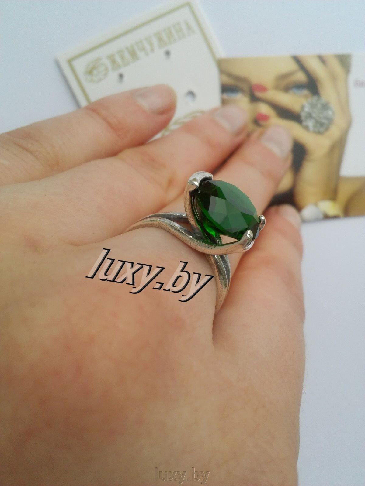 Колечко с зелёным фианитом, серебрение., арт. Г-30-1 - фото pic_6b8062807a482cf_1920x9000_1.jpg