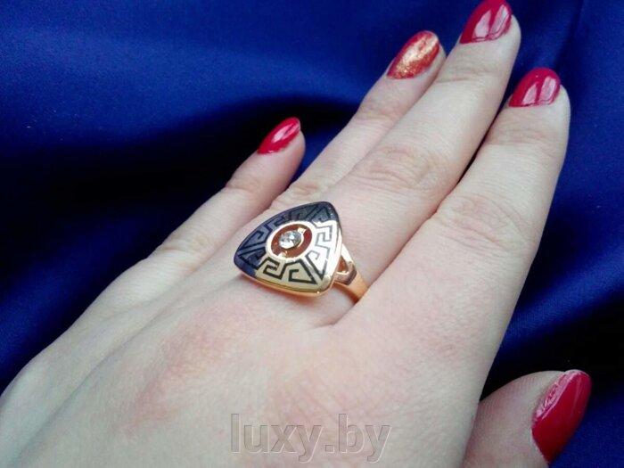 кольцо с греческим принтом