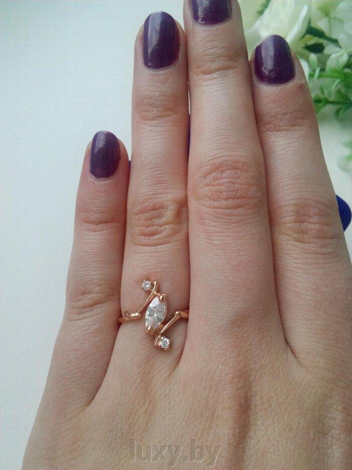 Кольцо 238477црф - фото кольцо позолоченное