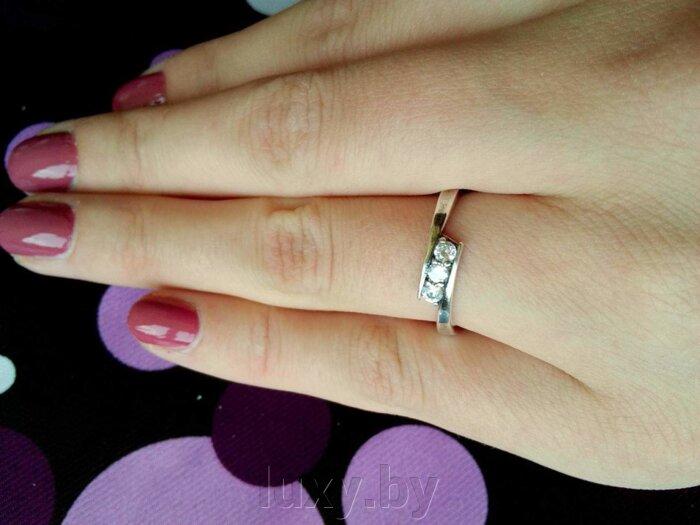 Кольцо арт.2487052ф - фото кольцо с цирконами