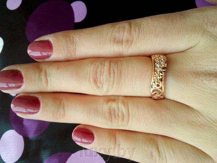 Кольцо арт.2467723ч5 - фото кольцо с цирконами