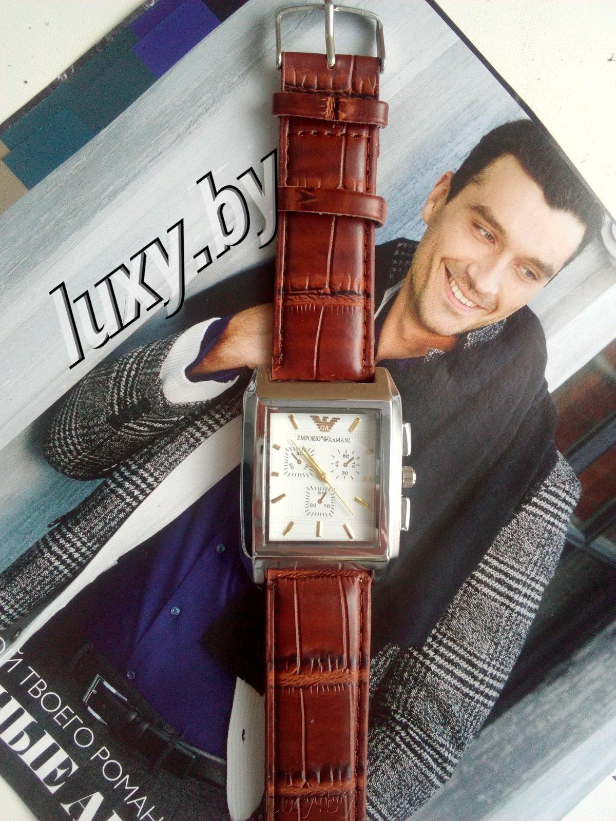 Часы наручные мужские Emporia armani, ремешок коричневый, арт.Н-19 - фото pic_f62f8b00ebf1374_1920x9000_1.jpg