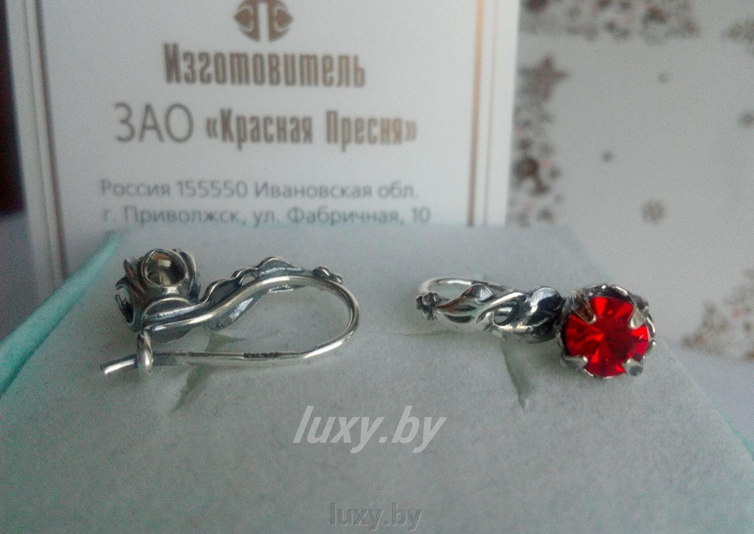 Серьги серебрение Красная пресня с фианитами (красные) - фото pic_b7bb5ad5c1444e6_1920x9000_1.jpg