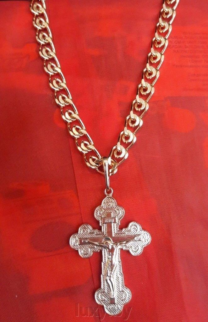 Крестик золочение Красная пресня арт. 530504цр9 - фото крестик красная пресня