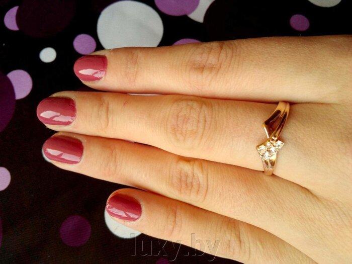 Кольцо арт.2468415ч - фото кольцо с цирконами