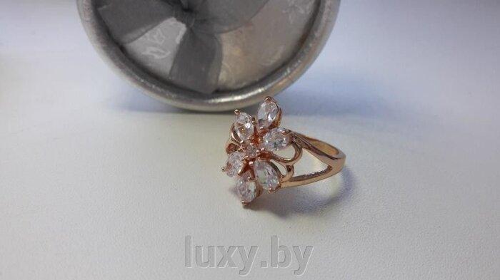 Кольцо С 8 - фото кольцо с цирконами
