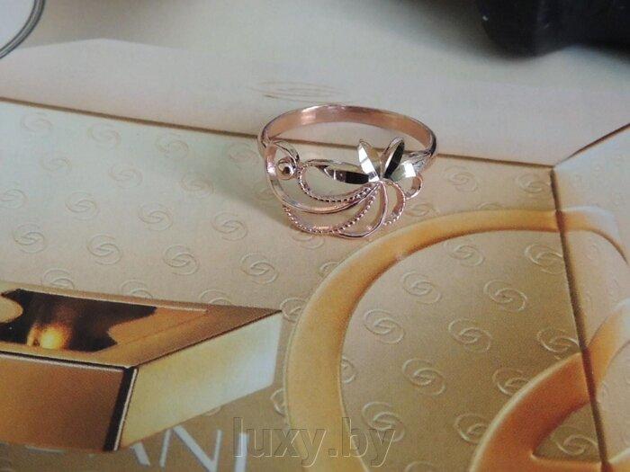 Кольцо золочение, Красная пресня, арт. 2407301-5 - фото кольцо позолоченное