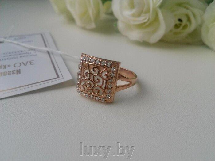 Кольцо 2467135ч - фото кольцо с цирконами