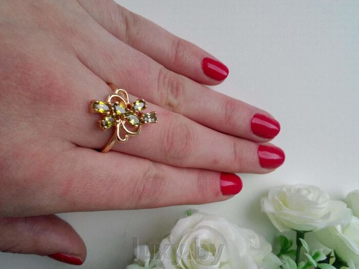 Кольцо С 14 - фото колечко с цирконами