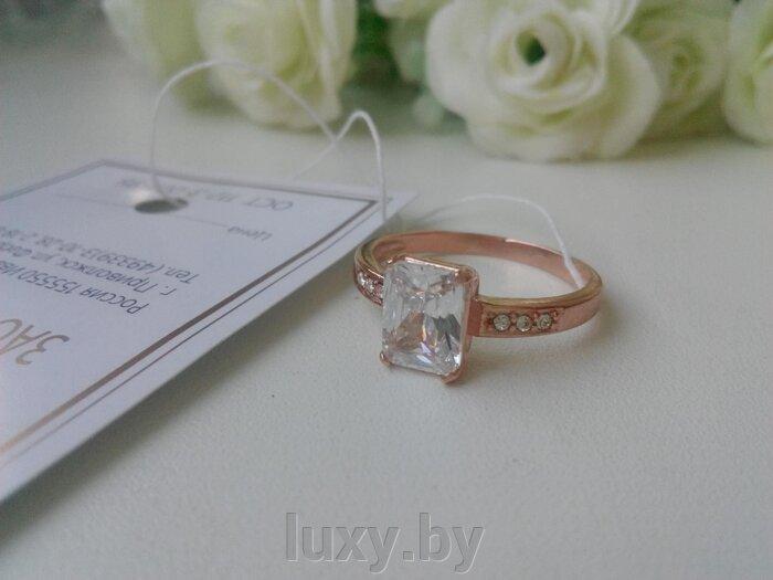 Кольцо арт.2486003ф - фото кольцо с фианитом