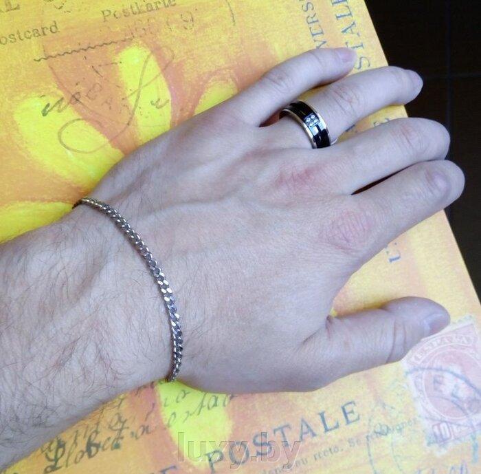 Мужской браслет 3мм - фото браслет из нержавеющей стали