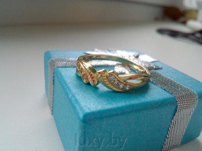 Кольцо , позолота, С 12 - фото кольцо позолота