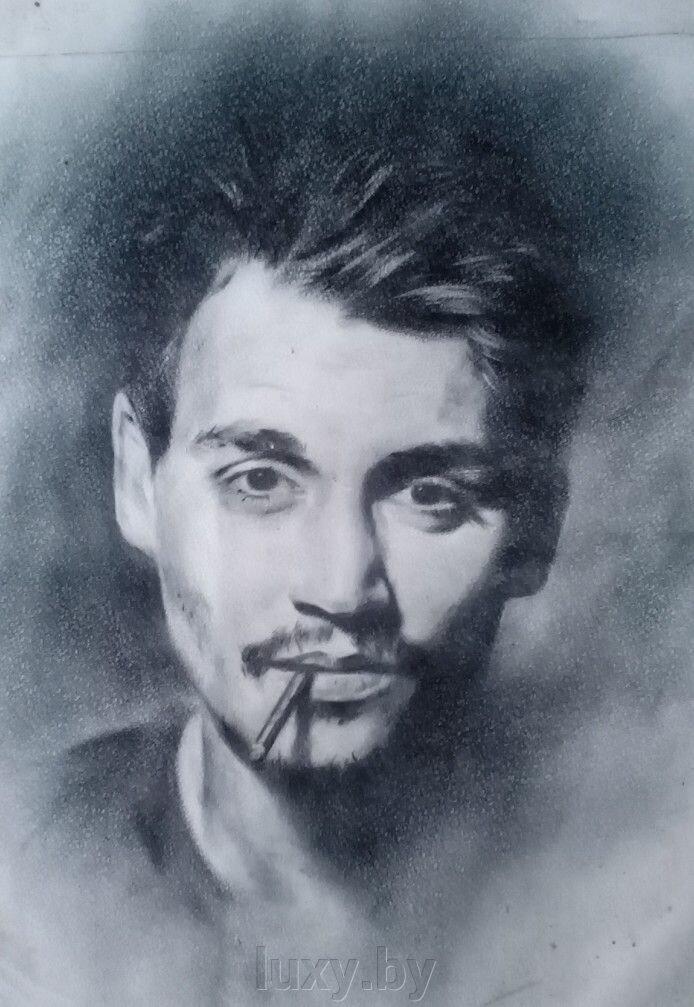 Портрет на заказ по фото черно-белый - фото 1