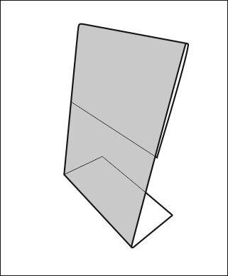 Менюхолдер Л-образный А4 - фото 21