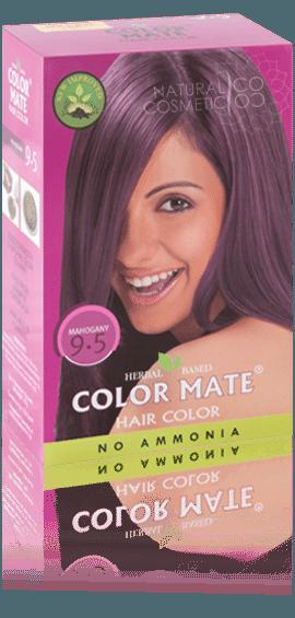 Краска для волос COLOR MATE Hair Color (75г.)— травяная краска без аммиака!(красное дерево) Тон- 9.5 - фото 1