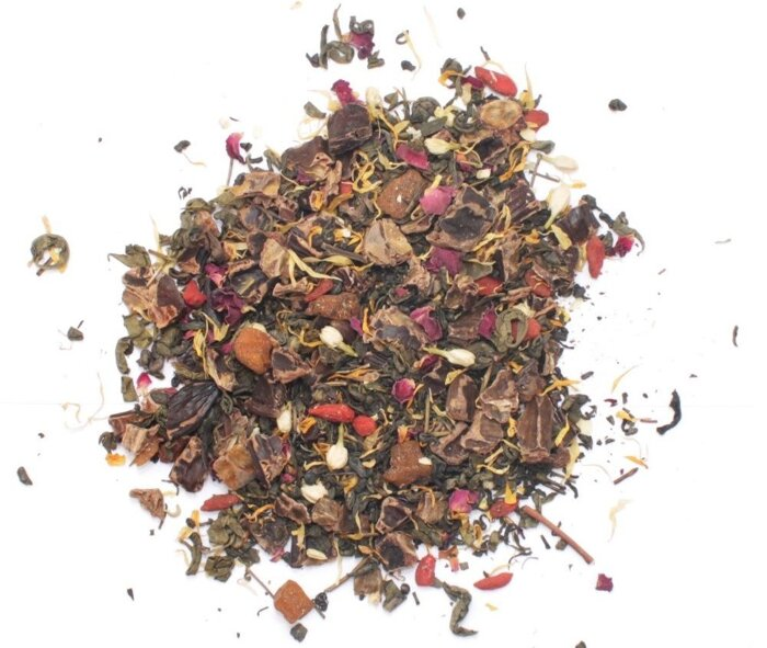 """Чай зеленый """"Royal Forest"""" (с ягодами годжи, кэробом и манго), 75 г - фото pic_0cb3677093af89e_700x3000_1.jpg"""