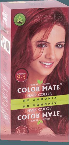 Краска для волос COLOR MATE Hair Color (75г.)— травяная краска без аммиака!(бургундия) Тон- 9.3 - фото 1