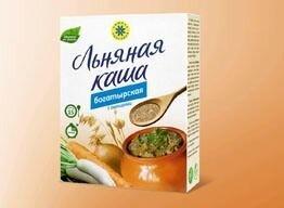 """Каша льняная """"Богатырская"""", 400г. (15 порций) - фото 1"""