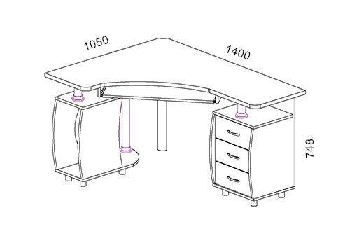 Стол угловой, компьютерный, Квадро-02, дуб молочный - фото pic_cf45da663783a26_1920x9000_1.jpg
