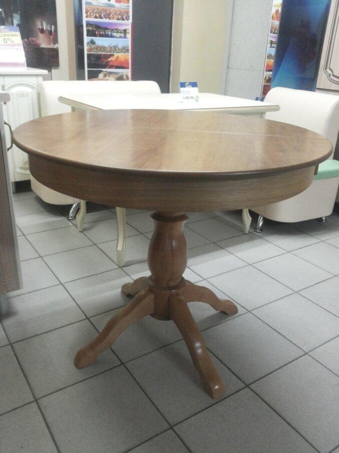 Стол круглый, Гелиос дуб Р-43, деревянный, раздвижной (93*93/128 см) - фото pic_4826776ea7483c860cf34040afa721c3_1920x9000_1.jpg