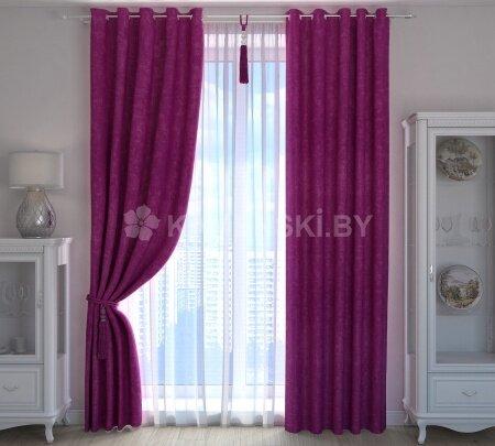 Шторы лиловые, Саманта (на люверсах) - фото pic_876ef3cb6d61bf3b9234631a6ff5c739_1920x9000_1.jpg