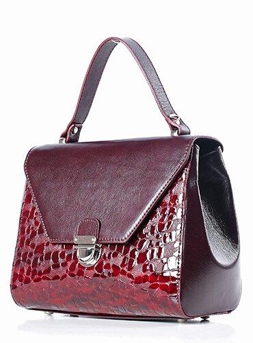 Женская сумка, 47017, бордовая - фото pic_23f00ef7aab786e54c602c3758d24386_1920x9000_1.jpg