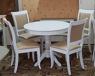 Стол круглый, Гелиос белый, деревянный, раздвижной (93*93/128 см) - фото pic_922f1d18c098e52353b2eb3a3818b2bc_1920x9000_1.jpg