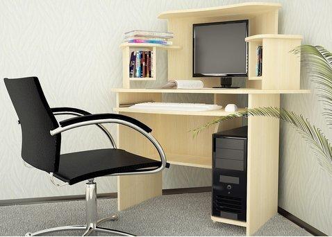 Стол угловой, компьютерный, Квадро-05, дуб молочный - фото pic_c2e23e3c2dda9ddfb02a0a01c502b565_1920x9000_1.jpg