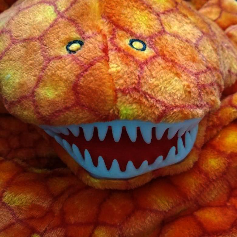 Трицератопс оранжевый взрослый - фото 1573548421155_71ecaecd769467f094a2b223a6f7b847.jpg