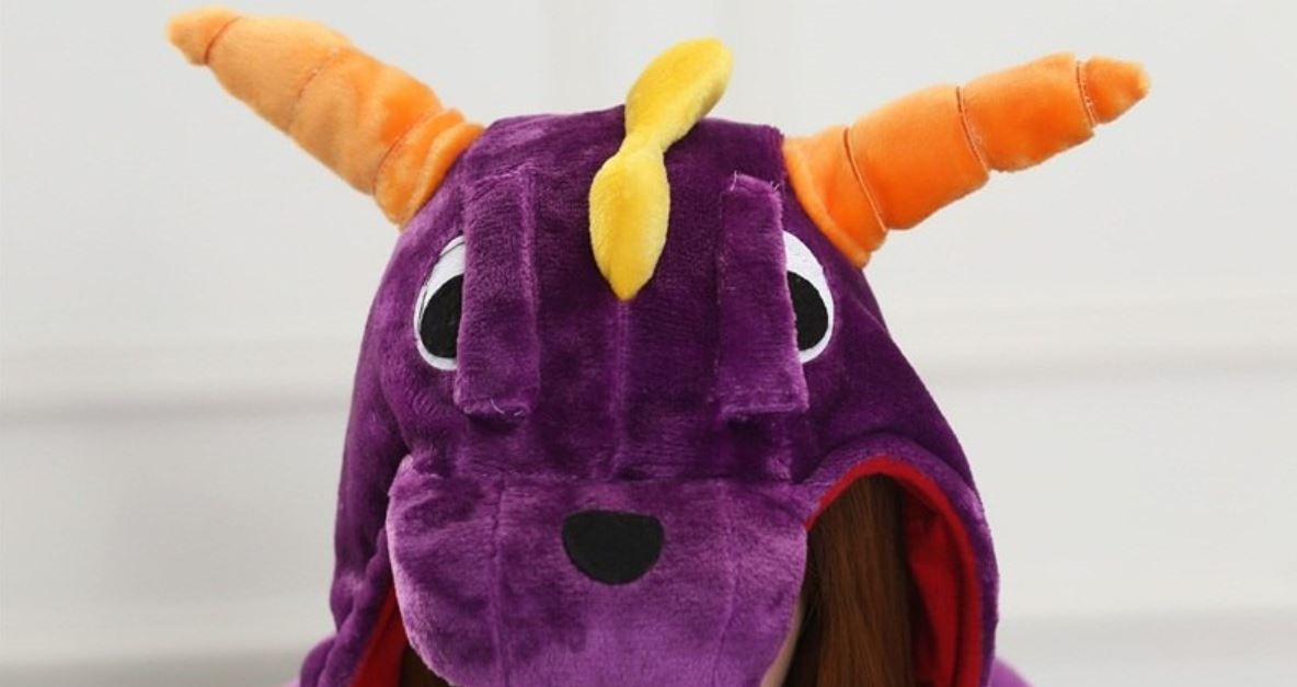 Дракон взрослый - фото Kigurumi-Adult-PJ-purple-dragon-pajama-onesie-jumpsuit-Fleece-costume.jpg