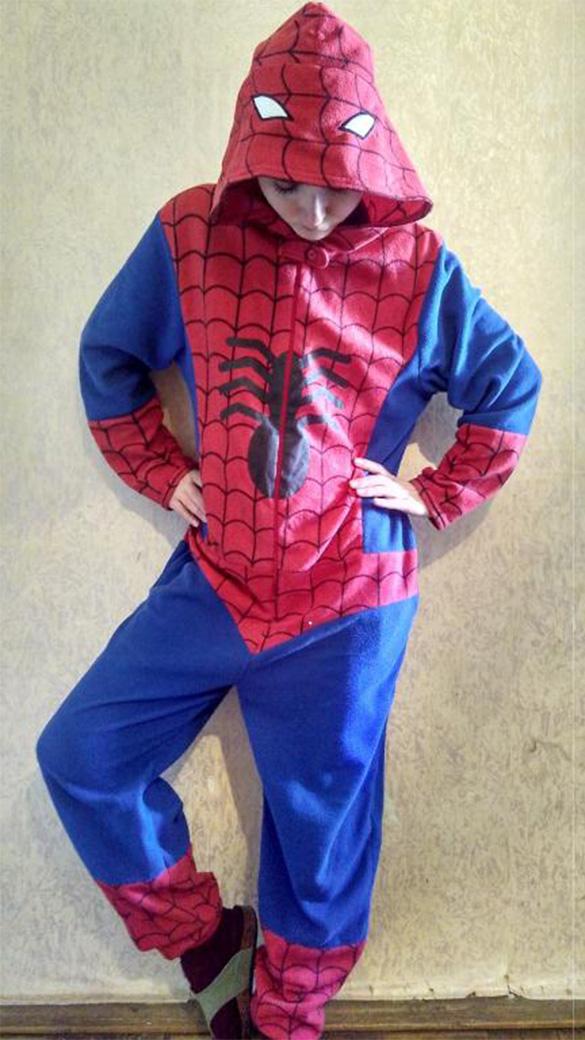 Человек Паук взрослый - фото pizhama_kigrumi_chelovek_pauk_spider_man_brend_cedarwood_state_razmer_s_na_rost_do_165_sm.jpg