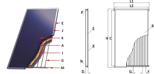 Солнечный плоский коллектор Sunsystem SELECT PK 2.7 - фото plan_standart_select.jpg