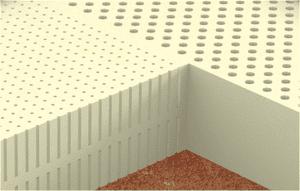 Монолитный латексный блок
