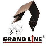 Софит Grand Line America T4 Коричневый с центральной перфорацией (Размер:3х0,305м) - фото Наружный угол Grand Line Коричневый (длина-3м)
