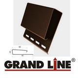 Софит Grand Line America T4 Коричневый с центральной перфорацией (Размер:3х0,305м) - фото J-профиль широкий (Наличник) Grand Line Коричневый (длина-3,05м)