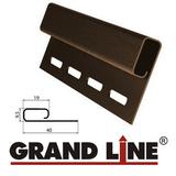 Софит Grand Line America T4 Коричневый с центральной перфорацией (Размер:3х0,305м) - фото Финишная планка Grand Line Коричневая (длина-3м)