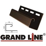 Софит Grand Line America T4 Коричневый с центральной перфорацией (Размер:3х0,305м) - фото J-профиль Grand Line Коричневый (длина-3м)