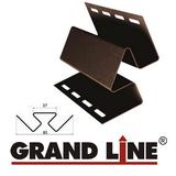 Софит Grand Line America T4 Коричневый с центральной перфорацией (Размер:3х0,305м) - фото Внутренний угол Grand Line Коричневый (длина-3м)
