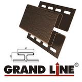 Софит Grand Line America T4 Коричневый с центральной перфорацией (Размер:3х0,305м) - фото Н-профиль Grand Line Коричневый (длина-3м)