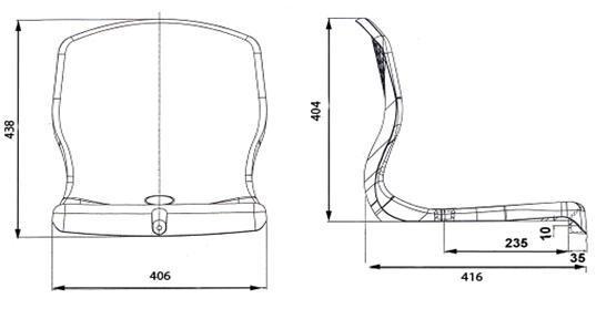 Переносные секции пластиковых сидений. - фото 5