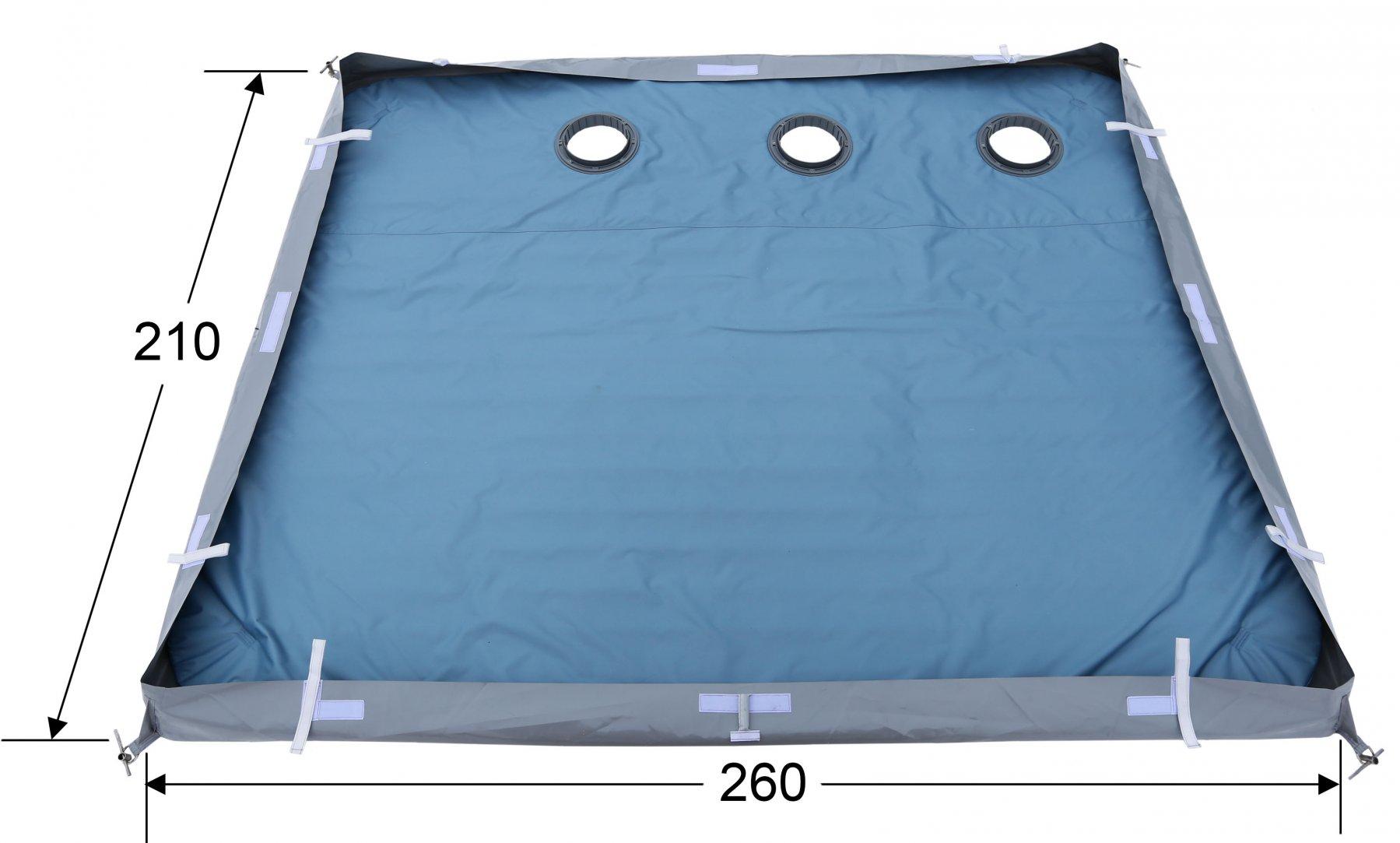 Дно гидро-термоизоляционное ЛОТОС Куб 4 (260х210) с отверстиями под лунки (в сборе с фланцами)