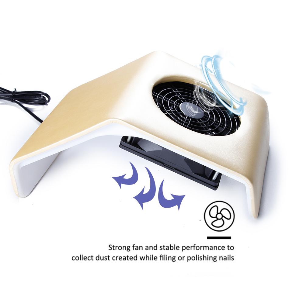 Пылесос для маникюра Nail Dust Collector 23Ватт (маникюрный пылесос) - фото gj5030M4_06-1