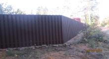 Забор из металлического штакетника ЛенОбластьСтрой