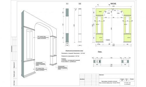 Установка арки между гостиной и кухней